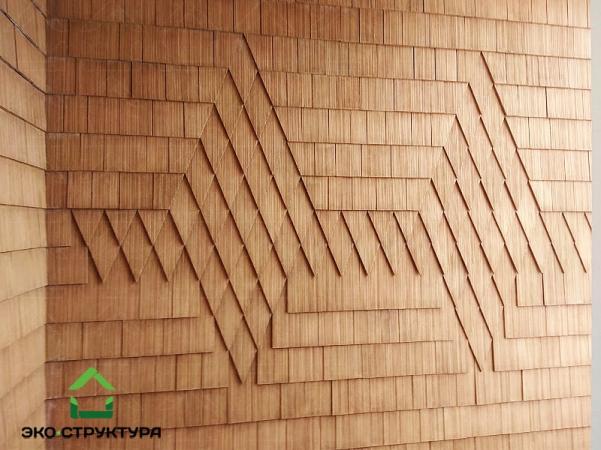 Узоры из деревянной черепицы