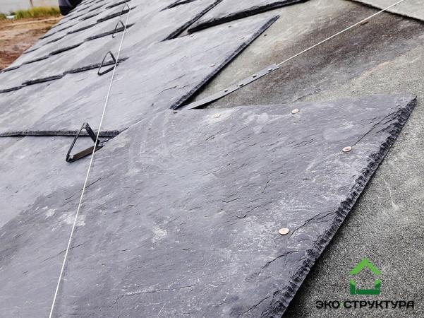 Монтаж сланцевой плитки на крышу