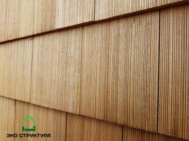 Текстура деревянной черепицы из кедра