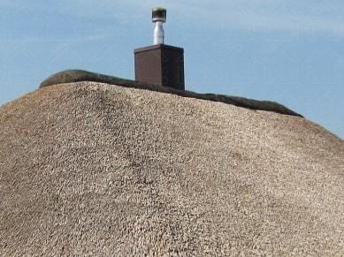 Крыша из камыша. Частный дом