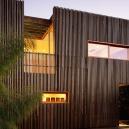 Фасады из деревянных реек