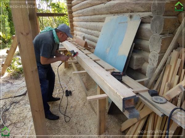 Изготовление деревянных желобов