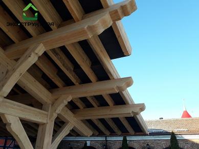 Стропильная система деревянного навеса